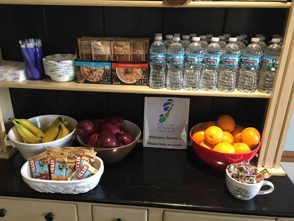 2018 half marathon runners special may 4 5 bay breeze resort the spread that greets runners at the front desk over half marathon weekend solutioingenieria Images